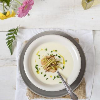 Vichyssoise, receta de crema fría de puerros