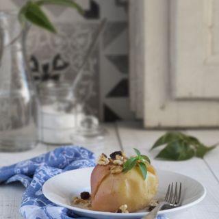 Manzanas al vapor con frutos secos (con vaporera Lékué)