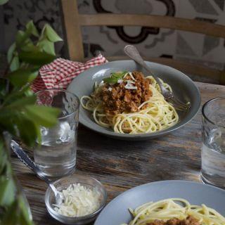 Salsa boloñesa rápida para platos de pasta