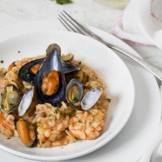Risotto frutti di mare, un clásico de la cocina italiana