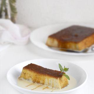 Pudin de pan con salsa de vainilla, Thermomix y tradicional