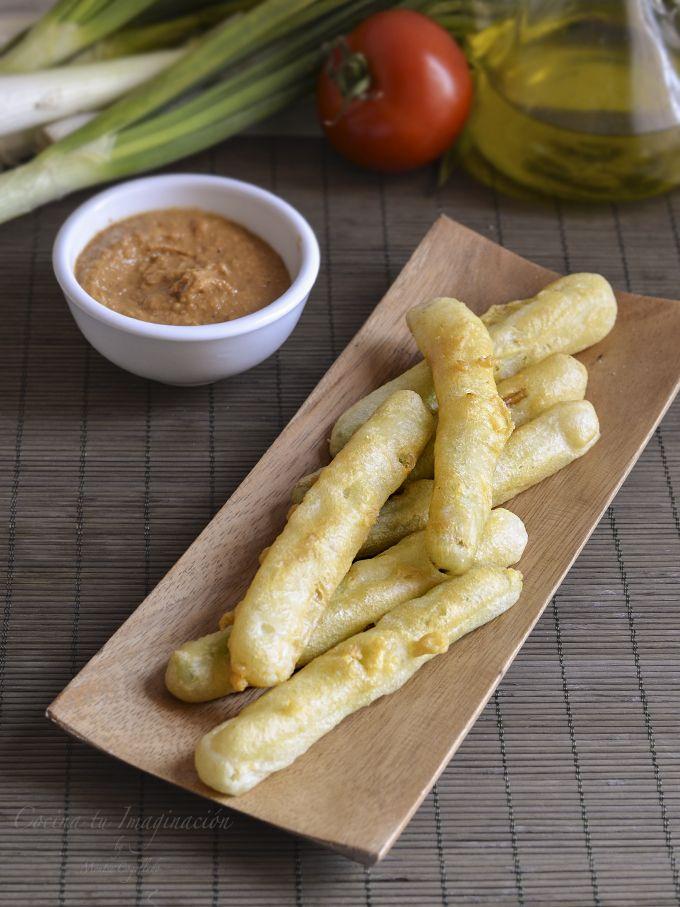 calçots en tempura