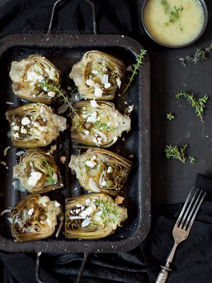 alcachofas al horno
