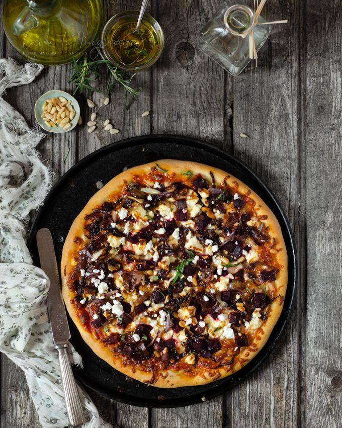 pizza de remolacha