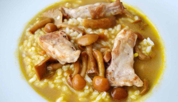 receta de arroz caldoso con setas y conejo - recetas de arroces caldososo - recetas con setas - recetas con conejo - recetas realfooding o real food