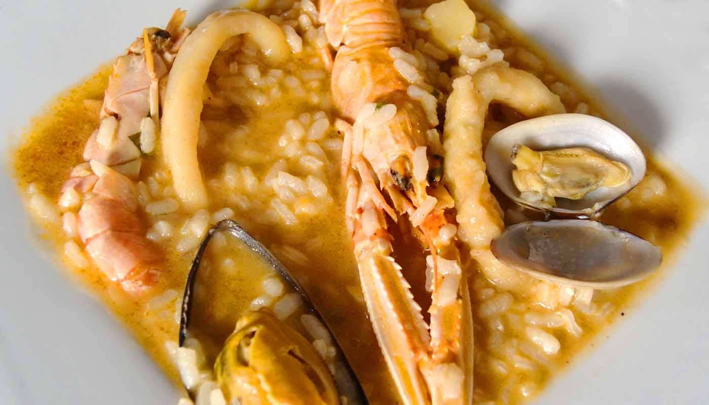 Receta de arroz caldoso de mariscos - recetas de arroces - recetas realfooding o real food
