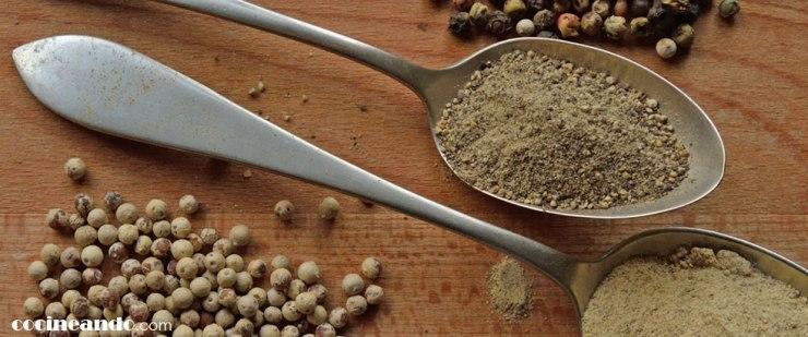 Usos culinarios de la pimienta: diferencias entre pimienta negra, pimienta blanca y pimienta verde