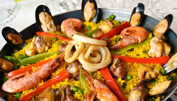 receta de paella de mariscos - recetas tradicionales - recetas caseras -recetas faciles - recetas real food - recetas de arroces - recetas de paellas