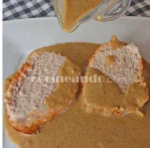 Receta de lomo de cerdo al horno con salsa de setas - recetas de cerdo