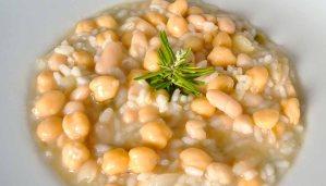 Receta de arroz con alubias y garbanzos - recetas de arroces con legumbres - recetas de arroces caldosos - recetas realfooding o real food