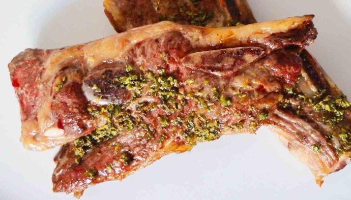 Receta de churrasco asado con chimichurri - recetas de ternera - recetas de carnes - recetas realfooding o real food