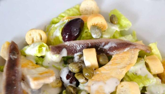 receta de ensalada cesar y salsa cesar -recetas de ensaladas - recetas realfooding o real food