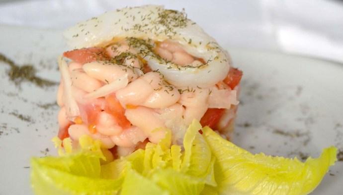 receta de ensalada de alubias con pulpo - recetas de alubias - recetas de legumbres - recetas de ensaladas de legumbres - recetas con bacalao - recetas real food o real fooding