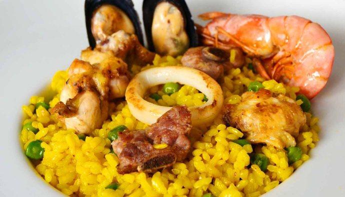 receta de paella mixta de carne y mariscos - recetas tradicionales - recetas caseras -recetas faciles - recetas real food - recetas de arroces - recetas de paellas