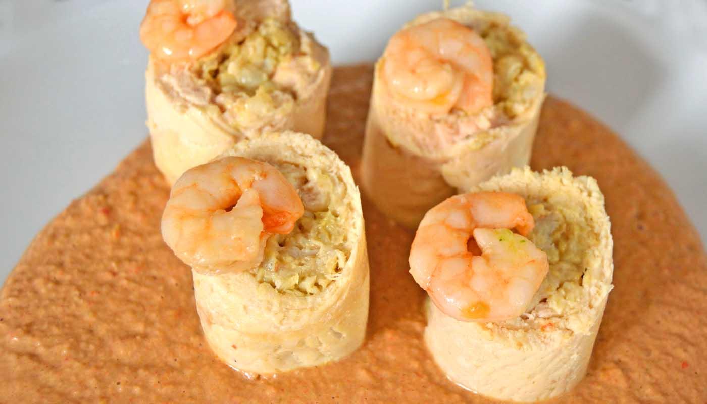 Receta de pechugas de pollo rellenas de pescado y gambas - recetas de pollo al horno - recetas de pollo relleno - recetas realfooding o real food