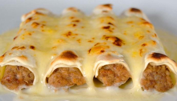 Receta de canelones de carne de la abuela Lucía - recetas de canelones y lasañas - recetas de pasta - recetas de reaprovechamiento - recetas realfooding o real food