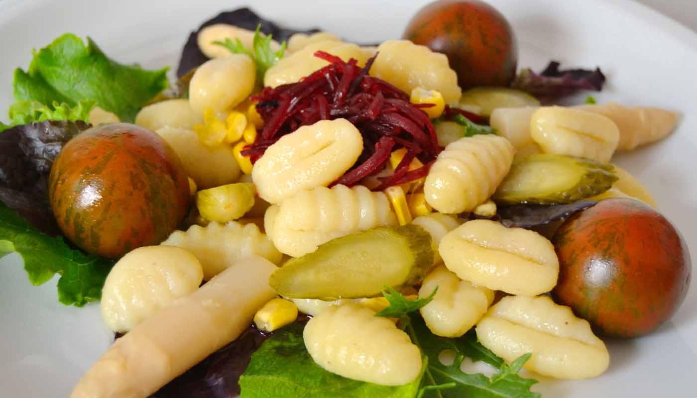 Receta de ensalada de gnocchis o ñoquis - recetas de ensaladas - recetas de patatas - recetas realfooding o real food