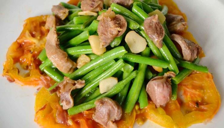 Receta de ensalada de judías tiernas y menudillos - recetas de ensaladas - recetas realfooding o real food