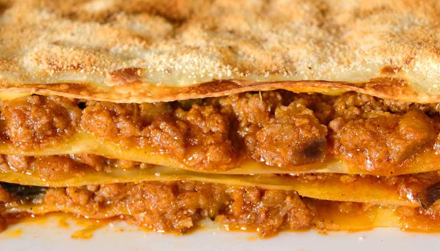 Receta de lasaña de carne - recetas de canelones y lasañas - recetas de pasta - recetas de reaprovechamiento - recetas realfooding o real food