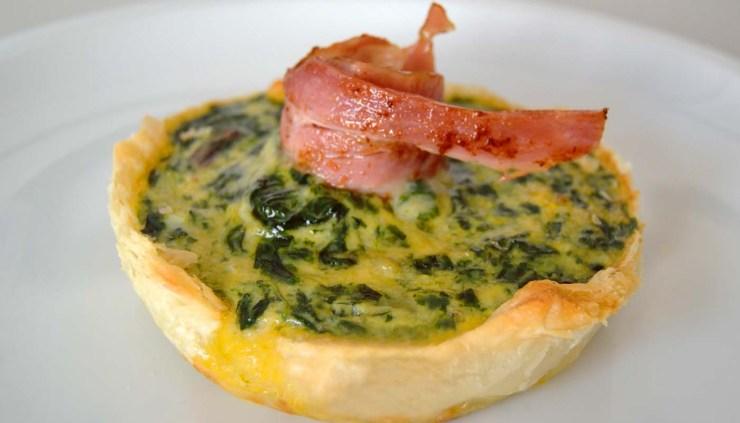 Receta de tartaletas de acelgas y bacon - recetas de huevos al horno - recetas de tartaletas - recetas realfooding o real food
