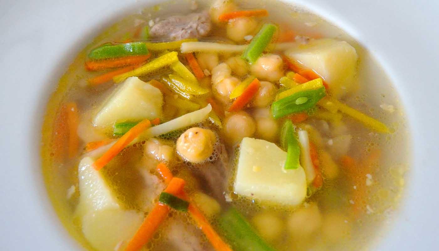 receta de potaje de garbanzos a la campesina - recetas de potajes - recetas con garbanzos - recetas realfooding o real food