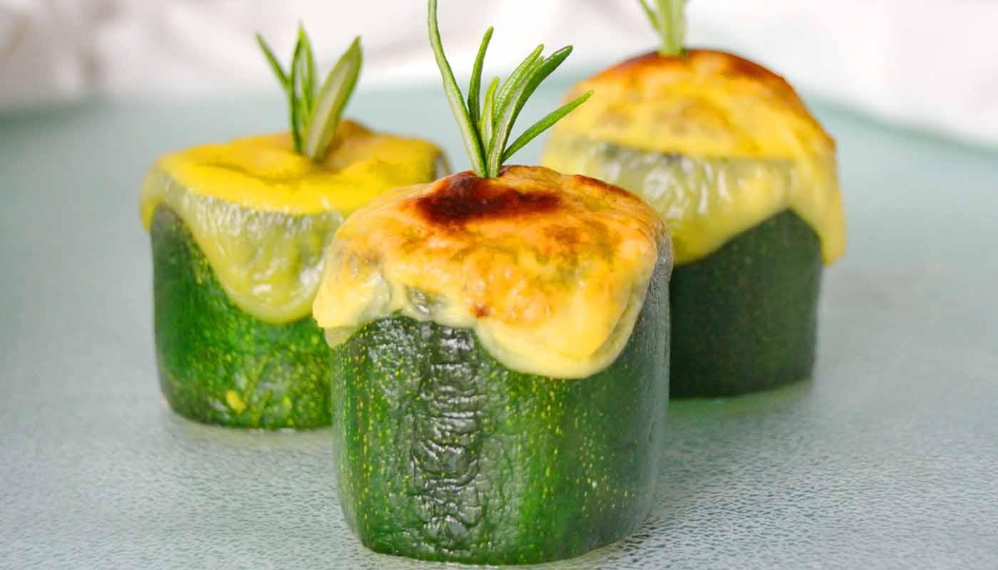 Receta de calabacines rellenos de soja texturizada - recetas vegetarianas y veganas