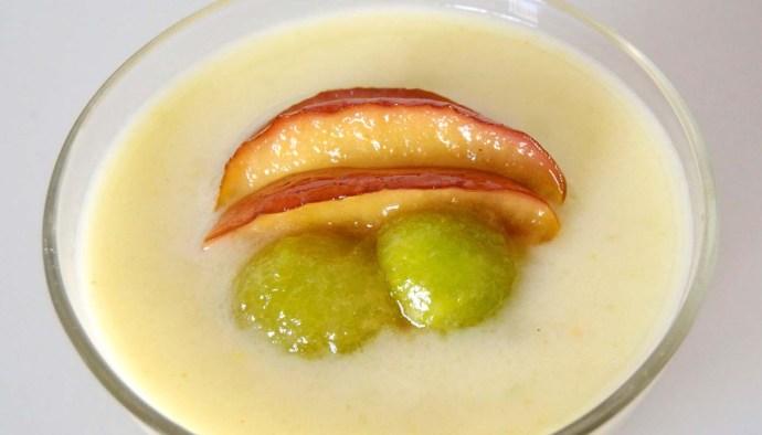 Receta de crema de melón y manzana - recetas de sopas y cremas frías - recetas realfooding o real food