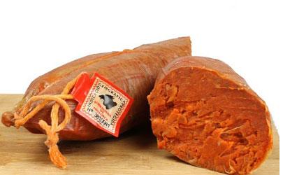 Gastronomía tradicional de las Islas Baleares: Productos típicos de las Baleares, fruto del campo y la ganadería - sobrasada de Mallorca