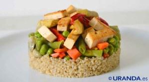 Receta de tofu con menestra y quinoa - recetas de quinuo o quinoa - recetas de tofu - recetas vegetarianas y veganas