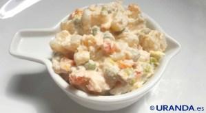 Receta de ensaladilla o ensalada rusa vegana - recetas vegetarianas y veganas