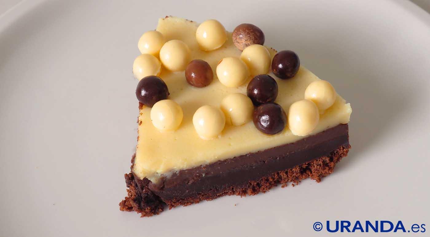 Receta de tarta de tres chocolates - recetas de tartas caseras - recetas con chocolate - recetas realfooding o real food