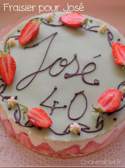 Gâteau fraisier ©cocineraloca.fr