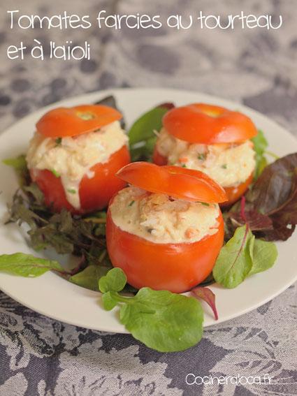 Tomates farcies au tourteau et à l'aïoli