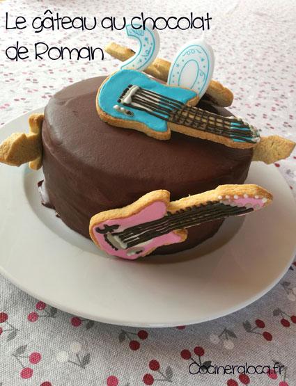 Gâteau d'anniversaire au chocolat de Roman