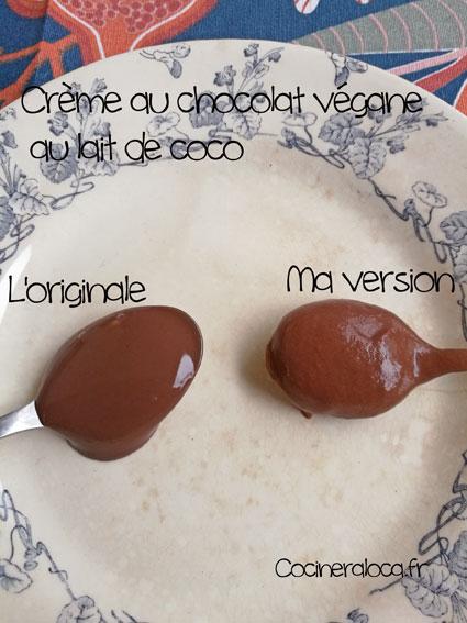 Comparatif des textures entre la crème végane du commerce et la mienne