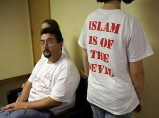 religious t-shirt islam is of the devil sept 2009 gainesville