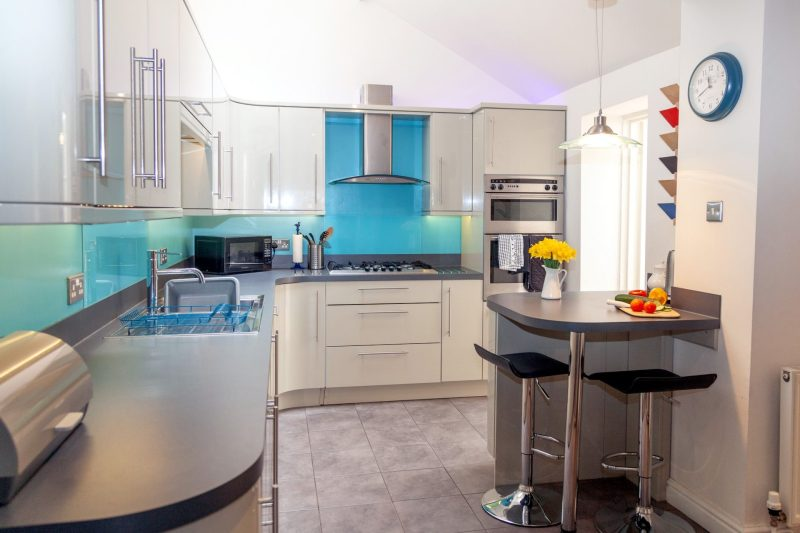 Mallock Cottage kitchen at Cockington Cottages, The English Riviera