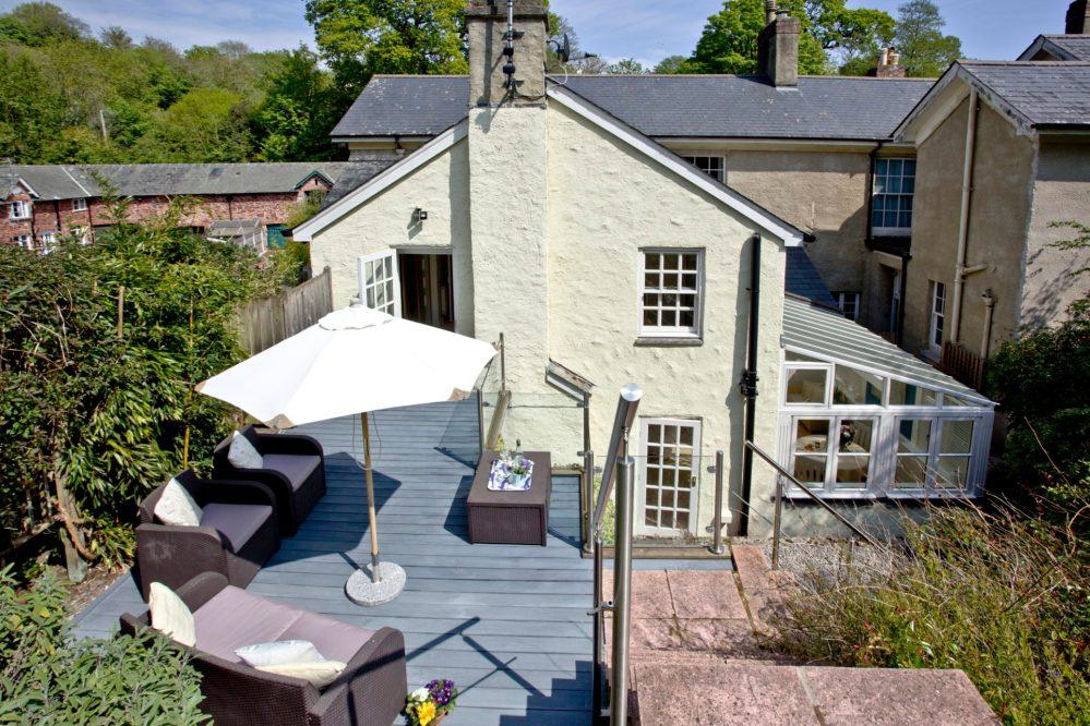Mallock Cottage- back garden