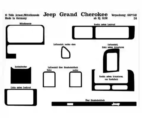 Chrysler Grand Cherokee 01.1996 3M 3D Interior Dashboard