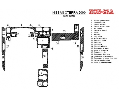 Nissan Xterra 2000-2000 Automatic Gearbox 22 Parts set