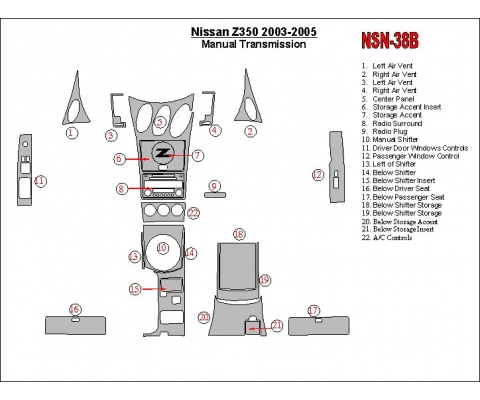 Nissan Z350 2003-2005 Manual Gear Box BD Décoration de