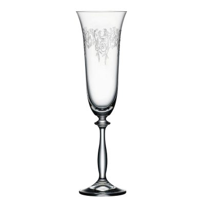 Bohemia-Cristal-093-006-014-Sektkelche-190ml-Romance-6er-Set-Sektglaeser