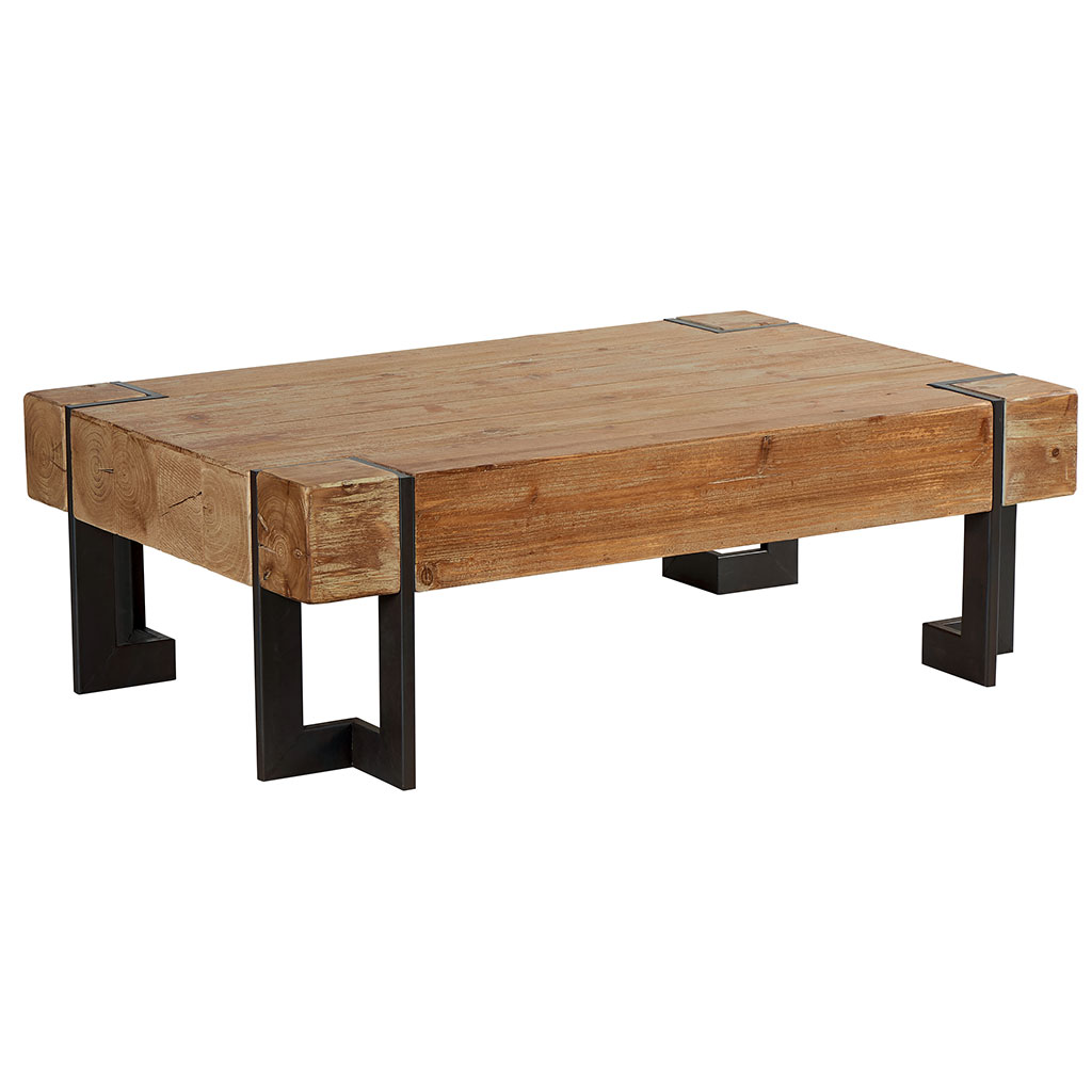 Tables De Salon Pomax Table Basse Rectangulaire Bois Et Melamine