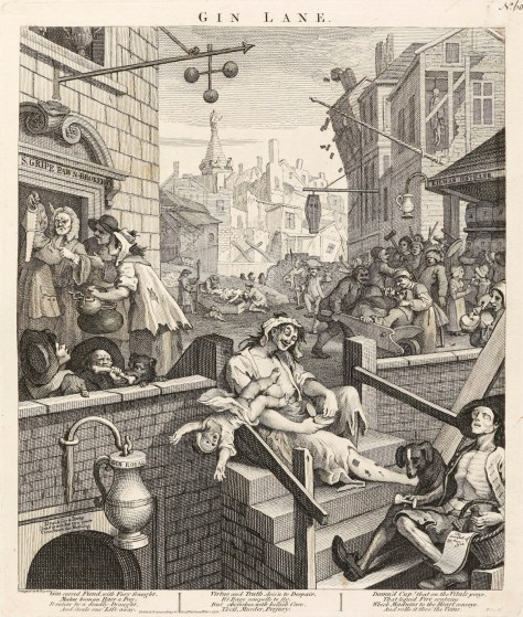 Willian Hogarth -Gin Lane 琴酒小巷