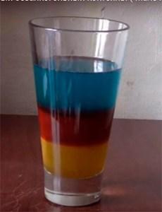Безалкогольный слоистый коктейль