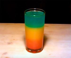 """Безалкогольный слоистый коктейль """"Радуга"""""""
