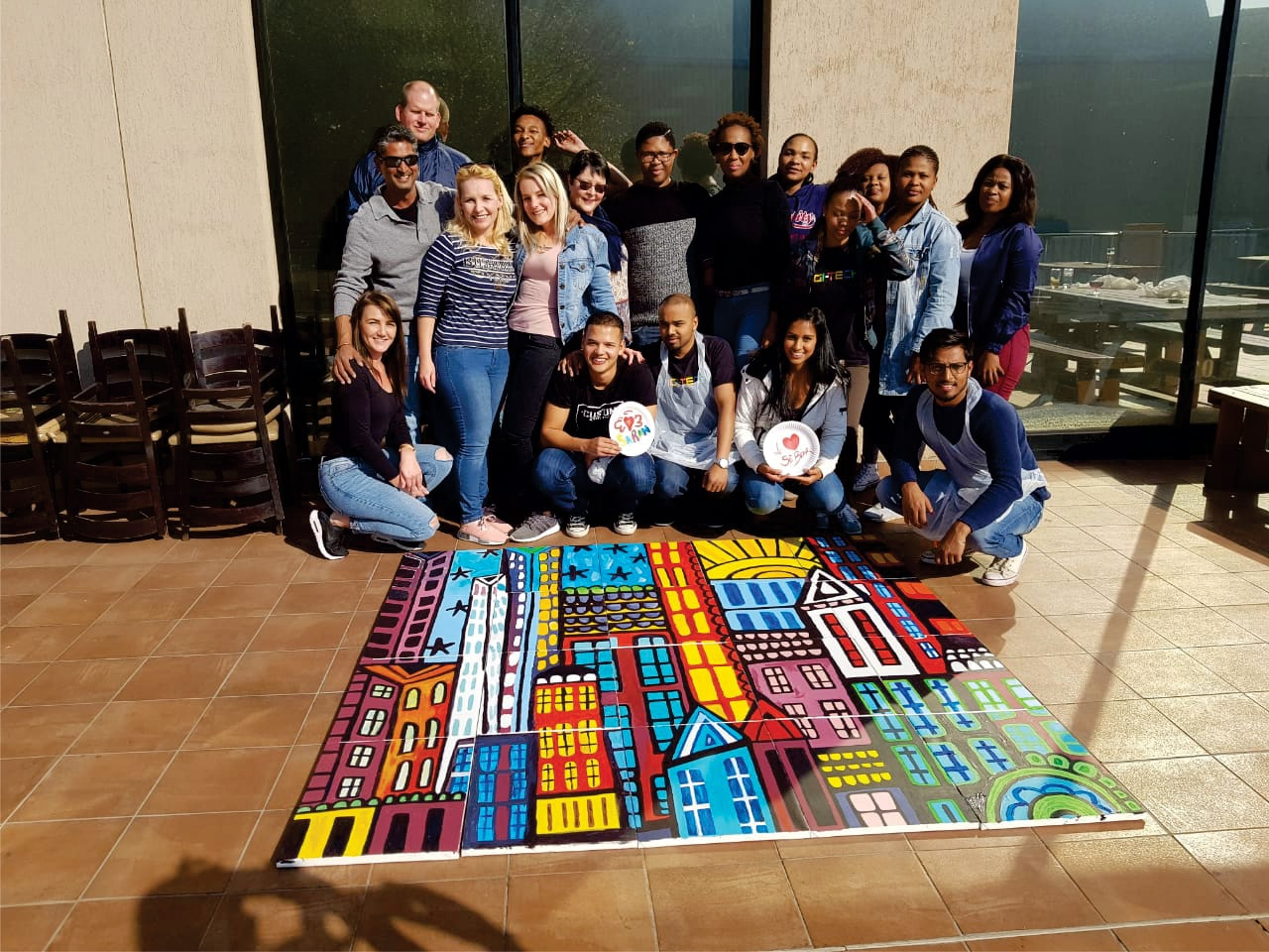 FNB team building mural painting