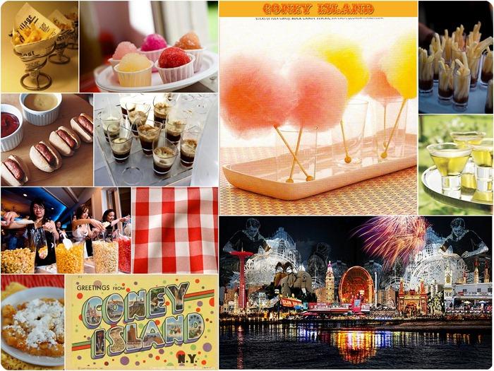 coney island vintage carnival inspired wedding