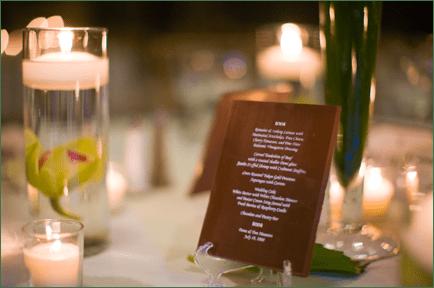chocolate menu for wedding by edward marc