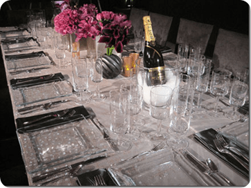 Clear Plates at tablescapes table decor setting